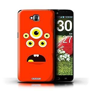 Kobalt® protector duro de nuevo caso / cubierta para el LG G Pro Lite/D680 | Rojo Diseño | Monstruos colección