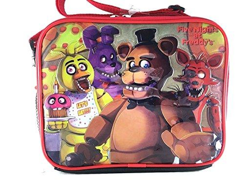 Five Nights At Freddys Lunch Bag FNAF Snack Bag Bonnie Chica Foxie -Back Checker