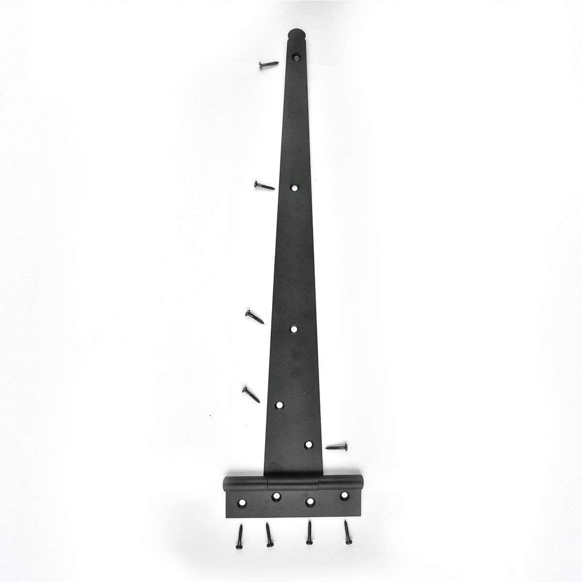 Rohi 4 X Tee Hinge Black Gate Door Shed Hinges Coated Heavy Duty 8 Black Wrought Hardware Iron Rustproof