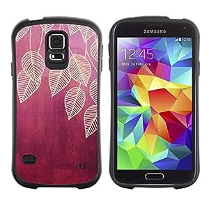 LASTONE PHONE CASE / Suave Silicona Caso Carcasa de Caucho Funda para Samsung Galaxy S5 SM-G900 / leaves leaf plum maroon red nature