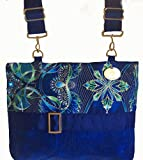 Gorgeous Zippered Green-Blue Lumina - Demi-Premier 13'' x 10'' Bag for Multiple Mobility Devices