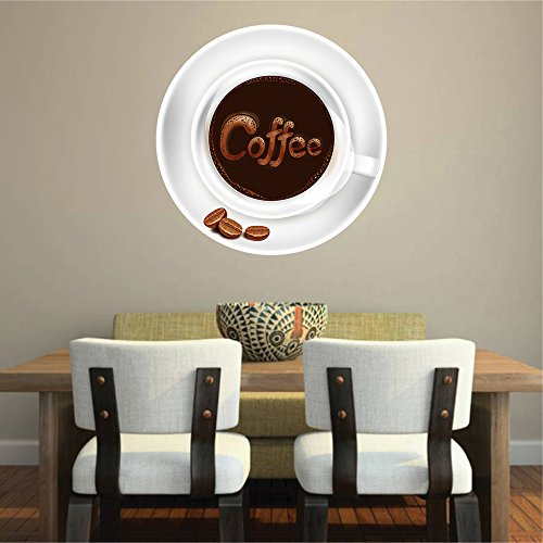 cik763 Full Color Wall decal coffee cup coffee house coffee shop showcase kitchen