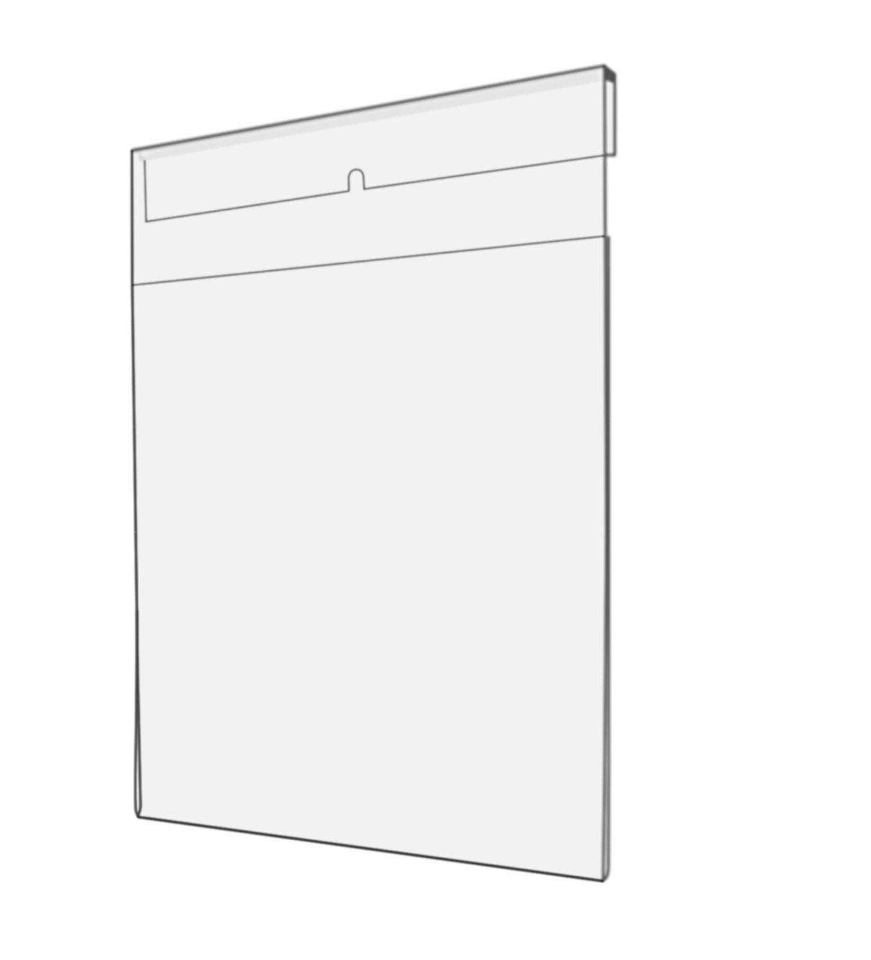 Marketing Holders Wall Mount Adhesive Literature Menu Poster Advertisement Flyer Frame Sign Display 8.5''w x 11''h Pack of 6