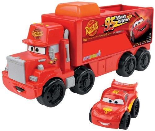 Fisher-Price Little People Wheelies Disney/Pixar Cars Mack Hauler & Lightning McQueen image