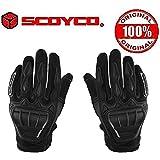 Scoyco GS MC08 Leather Motorcycle Riding Gloves (Black, Large)