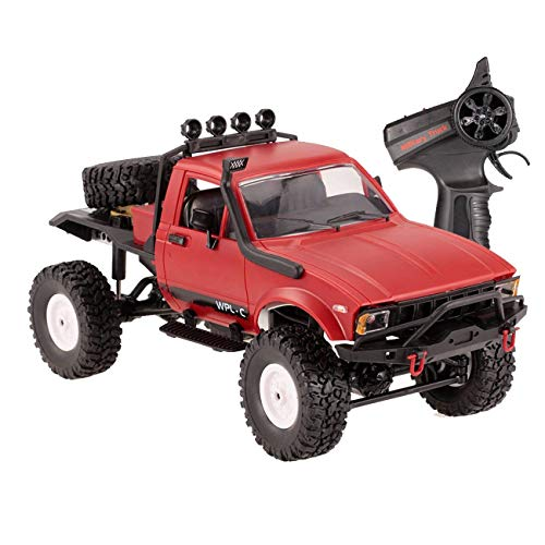 The perseids 1:16 2.4G 2CH 4WD RC Off-Road Vehicle Military Semi-Truck Car Climb Truck RTR Toy for Kids Red ()