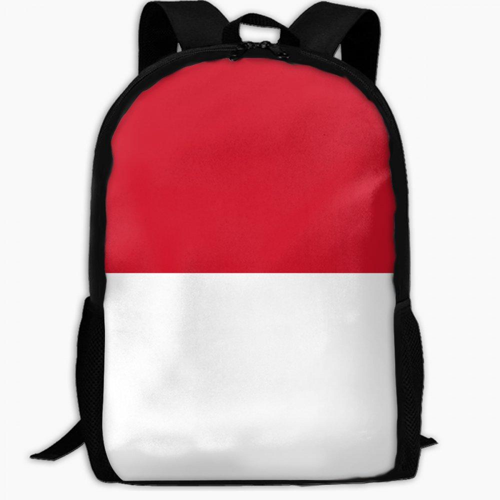 子供の学校バックパックの国旗モナコアウトドア旅行バックパック学生バックパックガールズブックバッグユニセックスショルダーデイパック B07FVSP414