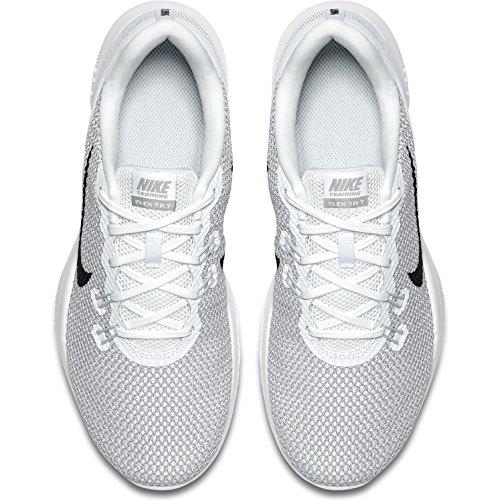 Nike Frauen Flex Trainer 5 Schuh Weiß / Metallic Silber-reines Platin