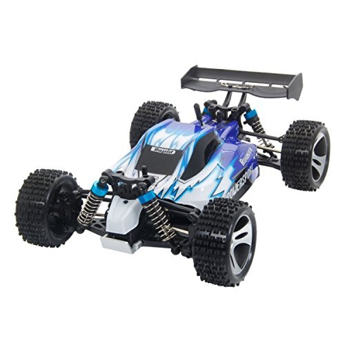 Buggy Rc - Wltoys A959 Vortex 1/18 2.4G 4WD Electric RC Car Off-Road Independent Suspension Buggy RTR-Blue