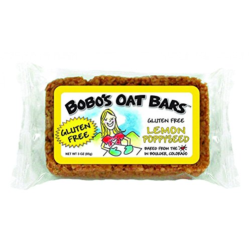 Bobo s Oat Bars - All Natural - Gluten Free - Lemon Poppyseed - 3 oz Bars - Case of 12 - Gluten Free - Dairy Free - Wheat Free - Vegan (Homemade Lemon Bars)