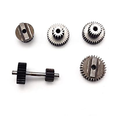 Dailyfun WPL 1 Set Original Metal Gears with 370 Motor for Speed Change Gear Box for B1 B24 B16 B36 C24 1/16 4WD 6WD Rc Car heathly: Home & Kitchen