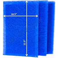 Ray Air Supply 20x25 MicroPower Guard Air Cleaner Replacement Filter Pads (3 Pack) BLUE