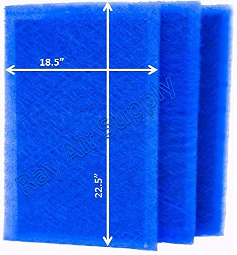 RAYAIR SUPPLY 20×25 ARS Rescue Rooter Air Cleaner Replacement Filter Pads 20×25 Refills (3 Pack)