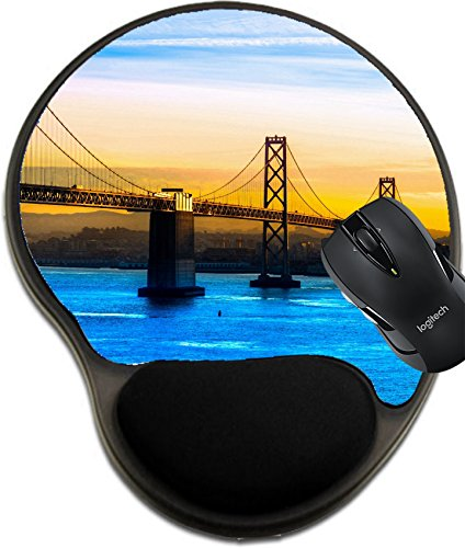 Msd Natural Rubber Mousepad Wrist Protected Mouse Pads Mat With Wrist Support Design  35315396 San Francisco Bay Bridge California Usa