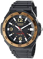 Casio Men's 'Solar Powered' Quartz Resin Watch, Color:Black (Model: MRWS310H-9BV)