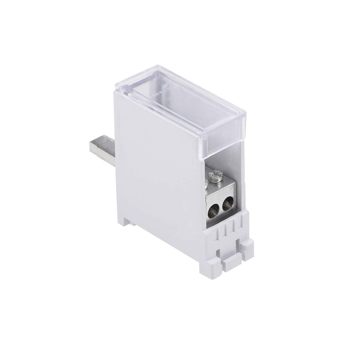 uxcell 1 Inlet 4 Outlet Wire Terminal Strip Blocks 690V 63A DIN Rail Distribution Block for Circuit Breaker