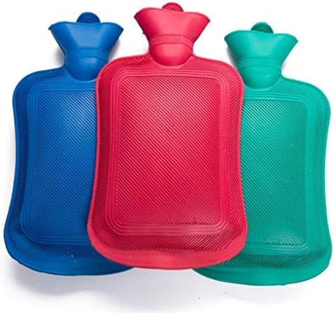 Zeagro Wärmflasche, 3 Stück, Naturkautschuk, Glatte Oberfläche auf beiden Seiten, 0,5 l, 1 l, 1,8 l, 2 l, zufällige...