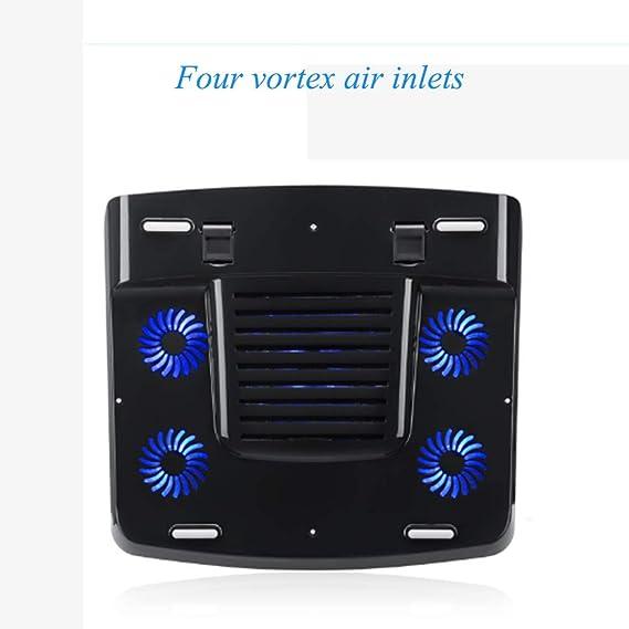 Soporte de enfriamiento silencioso de la luz de la luz LED del radiador del Ventilador del Extractor del Ordenador portátil de 17 Pulgadas Bases de ...