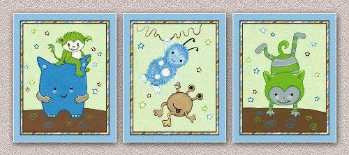 (Peek a Boo Monsters Nursery Art Prints (8