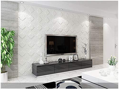 Wall Brick 3D Wall Panel Begonia Pattern PE Foam Self-Adhesive Stick Tile Solid Pattern,Not Just 3D Photo 1, Grey
