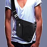 SPANLA Sling Bag, Shoulder Crossbody Chest Bag Slim Backpack Waterproof Multipurpose Daypacks Lightweight Hiking Daypack for Men & Women