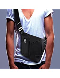 Sling Bag, Shoulder Crossbody Chest Bag Slim Backpack Waterproof Multipurpose Daypacks Lightweight Hiking Daypack for Men & Women