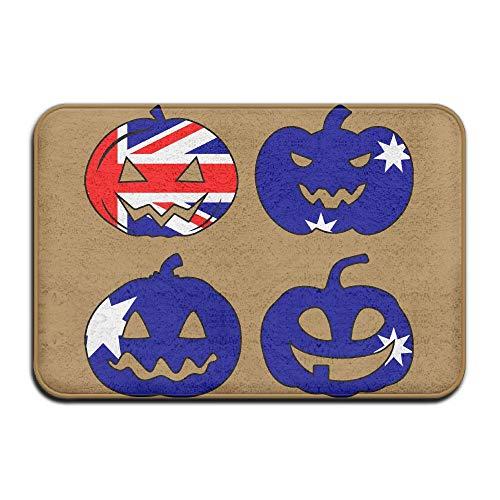 Doormat Australia Halloween Pumpkin Head Sturdy Memory Foam Bathroom Mat for -