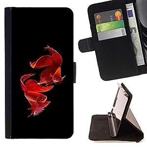 BullDog Case - FOR/Samsung Galaxy S3 Mini I8190Samsung Galaxy S3 Mini I8190 / - / love valentines fish black pet tropical /- Monedero de cuero de la PU Llevar cubierta de la caja con el ID Credit Card Slots Flip funda de cuer