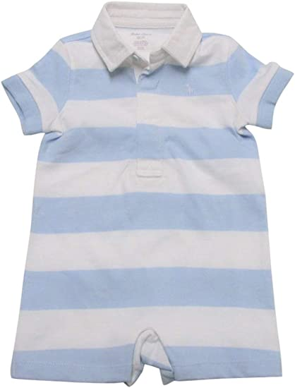 Baby boys white short sleeved polo style bodysuit