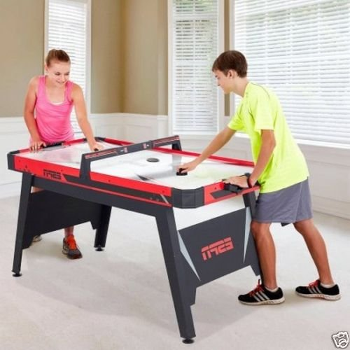 New 60 Air Powered Hockey Table Sound Effects LED Score Game ESPN Kids Game Room