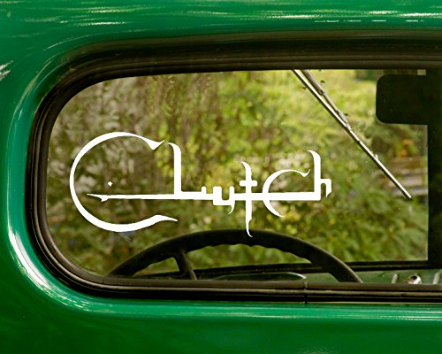 - 2 CLUTCH Decal Rock Band Stickers White Die Cut For Window Car Jeep 4x4 Truck Laptop Bumper Rv