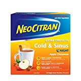 NeoCitran Extra Strength Cold & Sinus Apple Cinnamon Flavour Hot Liquid, 10 Count