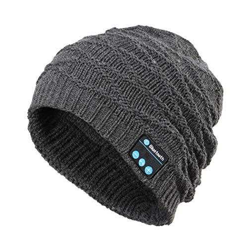 ICCUN Unisex Soft Warm Bluetooth Music Hat Knitted Hat With Bluetooth Headphone Bluetooth Headsets