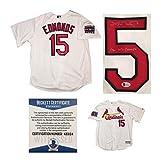 Jim Edmonds Autographed St Louis Cardinals 2006 World Series Signed Baseball Jersey Beckett BAS COA