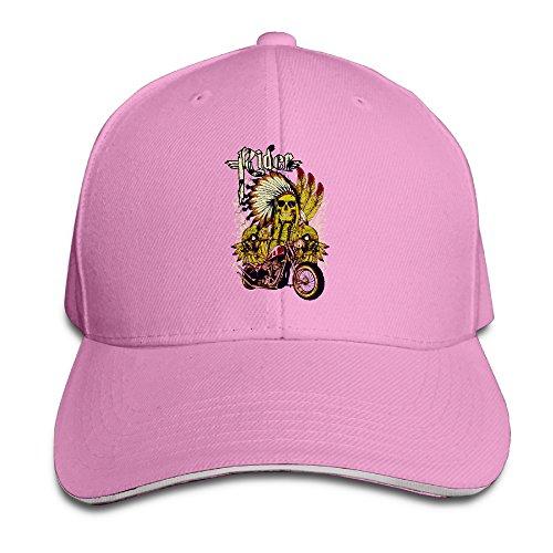 Skull Ride Moto Adjustable Sandwich Hats Baseball Caps
