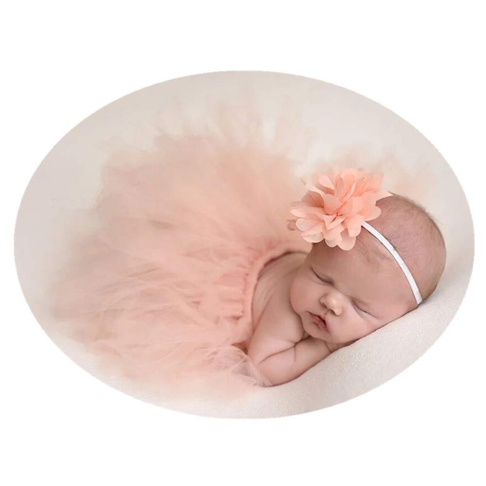 Amazon com auberllus newborn baby photography props for baby girl 0 3 months photo shoot props tutu skirt headband outfits clothing