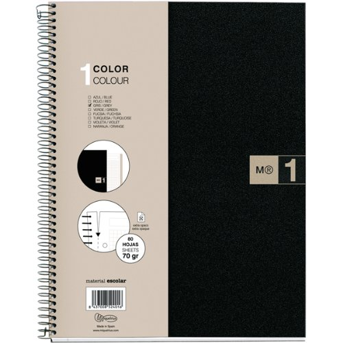 miquelrius-single-subject-spiral-notebook-college-ruled-grey-80-sheets-85-x-11