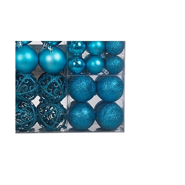Lifestyle & More 100 Pezzi Palle di Natale Turchese Decorazioni per Alberi di Natale (Turchese) 5 spesavip