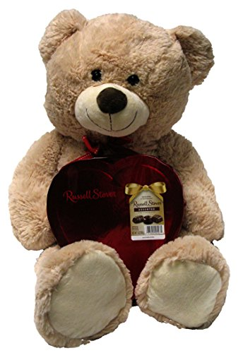 valentine-bundle-of-love-large-plush-with-russell-stover-assorted-chocolate-candy-teddy-bear-beige