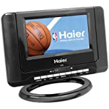 Haier HLTD7 7-Inch Handheld HDTV with Built-In DVD Player, Black