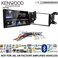 Volunteer Audio Kenwood DMX7704S Double Din Radio Install Kit with Apple CarPlay Android Auto Bluetooth Fits 2011-2013 Non Amplified Toyota Matrix