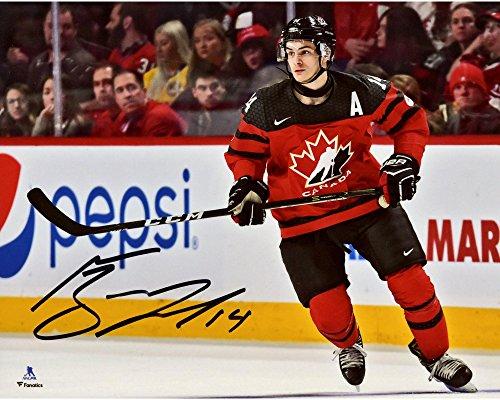 (Mathew Barzal Team Canada Autographed 8