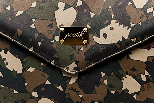 15'' Camouflage Leather MacBook Cover for 15'' Pro Retina HANDMADE / POETIK LIMITED EDITION Army Laptop Sleeve Case (Camo Netbook Sleeve Green)