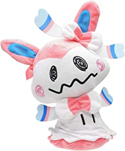 Fximt 17/30CM Sylveon Anime Plushies Figures Cartoon Pokemon Plush Stuffed Doll Pillow Fairy Type Soft Toy Puppet Birthday Christmas for Children and Adult (Size : 30cm)