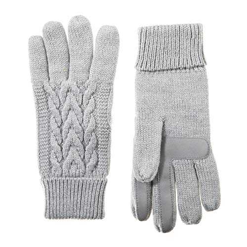 - Isotoner Women's Smartouch Solid Triple Cable Knit Glove with Palm Patches