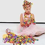 WISHTIME Pop Snap Beads Girl Toys Toddler Fashion Pop Beads DIY Jewelry Making Kit Fine Motor Skill Toys Art Craft Bead Set 162pcs (Animal Shape)