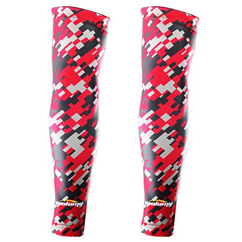 COOLOMG (Pair) Youth Compression Arm Sleeves UV Protectio...