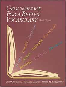 Groundwork for a better vocabulary: kent r. Smith: 9781591940142.