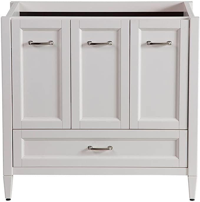 Claxby 36 In Vanity Cabinet Only In Cream Amazon Com