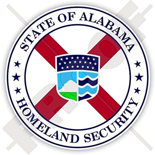 Homeland Security Seal - ALABAMA State Department of Homeland Security Seal, USA America Alabaman, American 90mm (3.5